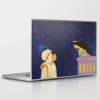 aladdin Laptop & iPad Skins featuring Aladdin & Jasmine by Julia