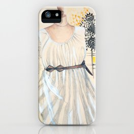 White Lace Dress iPhone Case