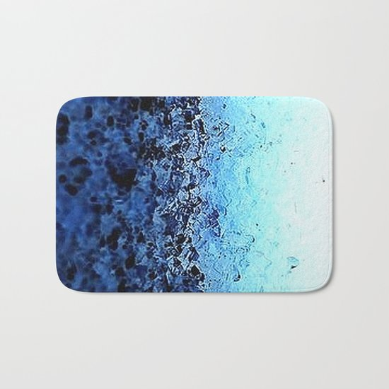 Blue Ombre CrystalS Bath Mat