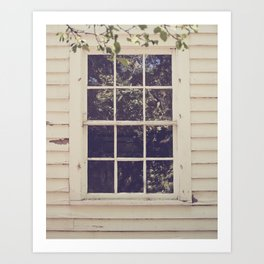 abandoned window Art Print