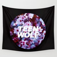 teen wolf Wall Tapestries featuring Teen Wolf by harrystyless