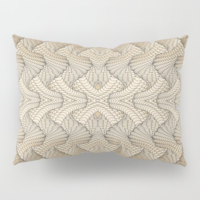 Beige patterns Pillow Sham