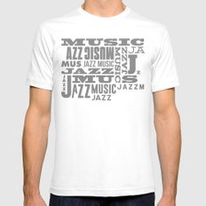 Jazz Poster White SMALL Mens Fitted Tee