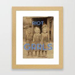 Riot GRRLS Framed Art Print