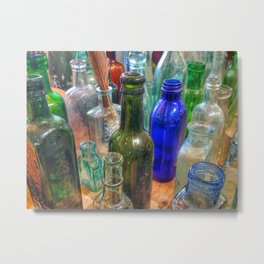 Glass Bottles (2) Metal Print