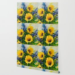 Sunflowers Oil Painting Wallpaper