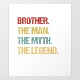 Big Brother designs for Men Art Print