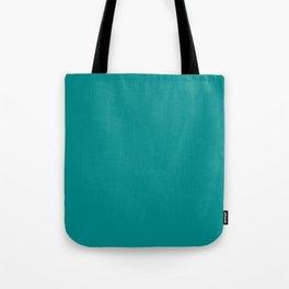 Dark Cyan - solid color Tote Bag