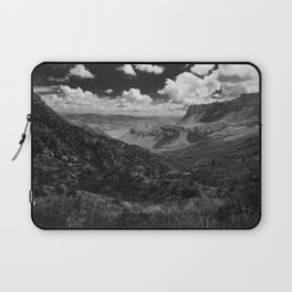 Dramatic Cloudy Mountain View at Lost Mine Trail, Big Bend Laptop Sleeve