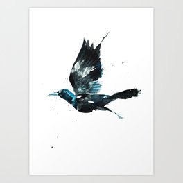 Attack of the Grackle Art Print