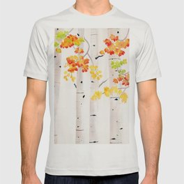 Autumn Birch Song T-shirt