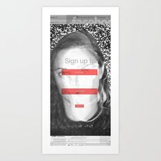 SOCIAL NETWORK Art Print