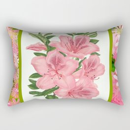 Pink Floral Explosion Rectangular Pillow