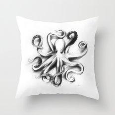 Flat Octopus Throw Pillow
