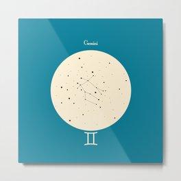 Gemini - Blue Metal Print