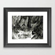 Dream view serie - Forest meeting Framed Art Print