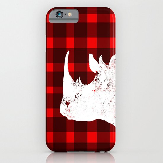 Animals Illustration - Rhinos iPhone & iPod Case