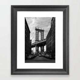 Manhattan Bridge view from Dumbo Framed Art Print