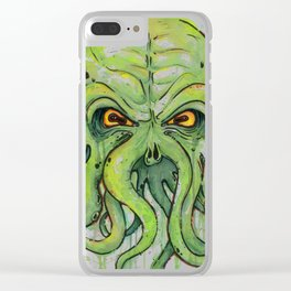 Cthulhu HP Lovecraft Green Monster Tentacles Clear iPhone Case