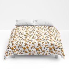 Funny kangaroos Comforters