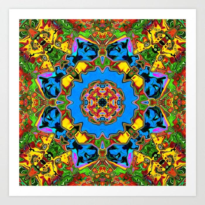 Abstract Balance of Color Art Print