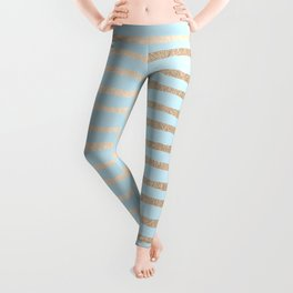 Abstract Stripes Gold Tropical Ocean Sea Turquoise Leggings