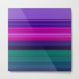 Vibrant Purple Pink and Green Stripes Metal Print