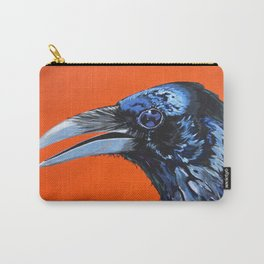 Orange Crow Carry-All Pouch