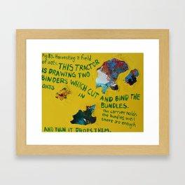 """""""Oats"""" Framed Art Print"""