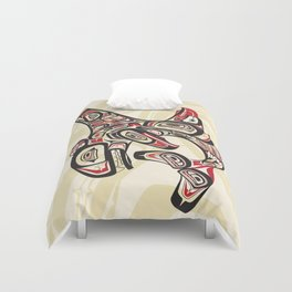 Eagle Killer Whale Duvet Cover