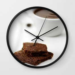 Chocolate cookies and hot cocoa Wall Clock