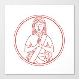 Namaste  Icon Canvas Print