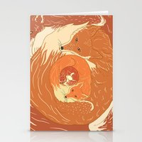 foxes Stationery Cards featuring Foxes by Beesants