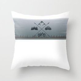 Mountains Line Throw Pillow