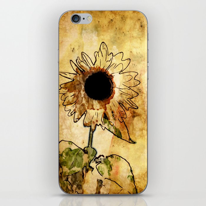 Sunflower Art iPhone Skin