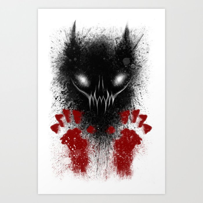 Bloody Hands Art Print