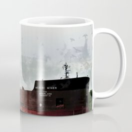 Mesabi Miner freighter and Stats Coffee Mug