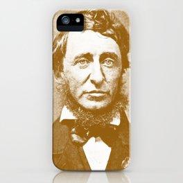 Thoreau Pillow/Thoreau Blanket/Thoreau Rug iPhone Case