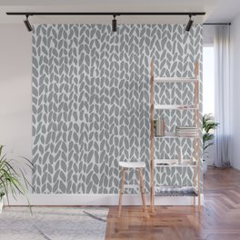 Hand Knit Zoom Grey Wall Mural