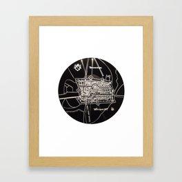 utrecht plattegrond Framed Art Print