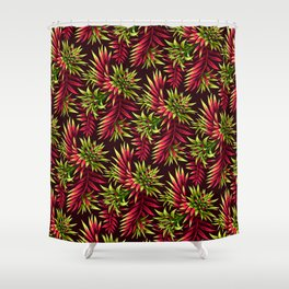 Aechmea Fasciata - Green/Pink Shower Curtain