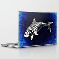 killer whale Laptop & iPad Skins featuring Killer Whale Illustration by Limitless Design