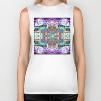 rave Biker Tanks featuring RATE RAVE by Riot Clothing