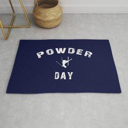 Powder Day Navy Blue Rug