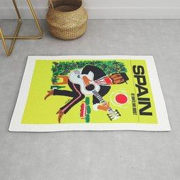 1960 Spain Guitar Player Travel Poster Rug