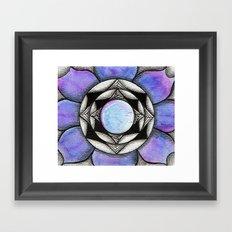 Doodled Gem Bloom Framed Art Print