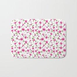 vintage floral card Bath Mat