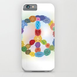 Peace Sign In Colors iPhone Case