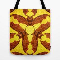 Geometric Bat Pattern - Golden version Tote Bag