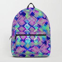 Square Pastel Pink Pattern Backpack